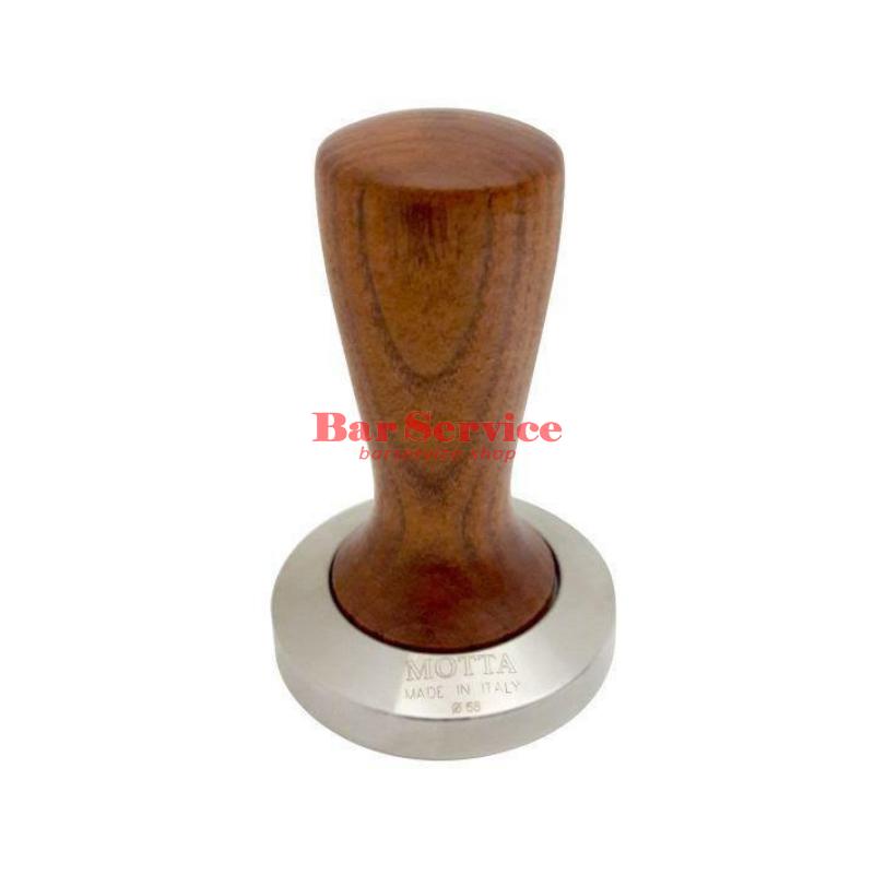 Темпер Мотта SLIM 58 мм. (плоский) рукоятка из дерева в Иваново