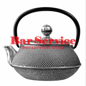 Чайник с ситечком; чугун; 650мл; D=8.7,H=9.4,L=14.5см черный в Иваново